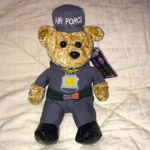 Air Force soldier bean collection plush bear NEW